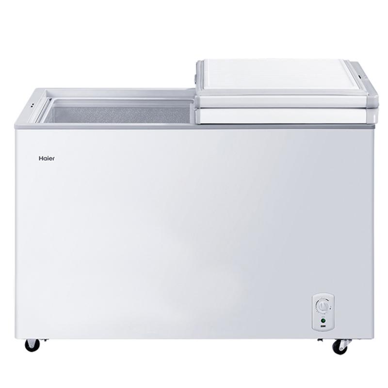 Haier/海尔 冷柜 BC/BD-221SEA 221升冷柜 蝶形门 侧掀门 单箱变温冰柜 家用商用二合一 卧式冰箱
