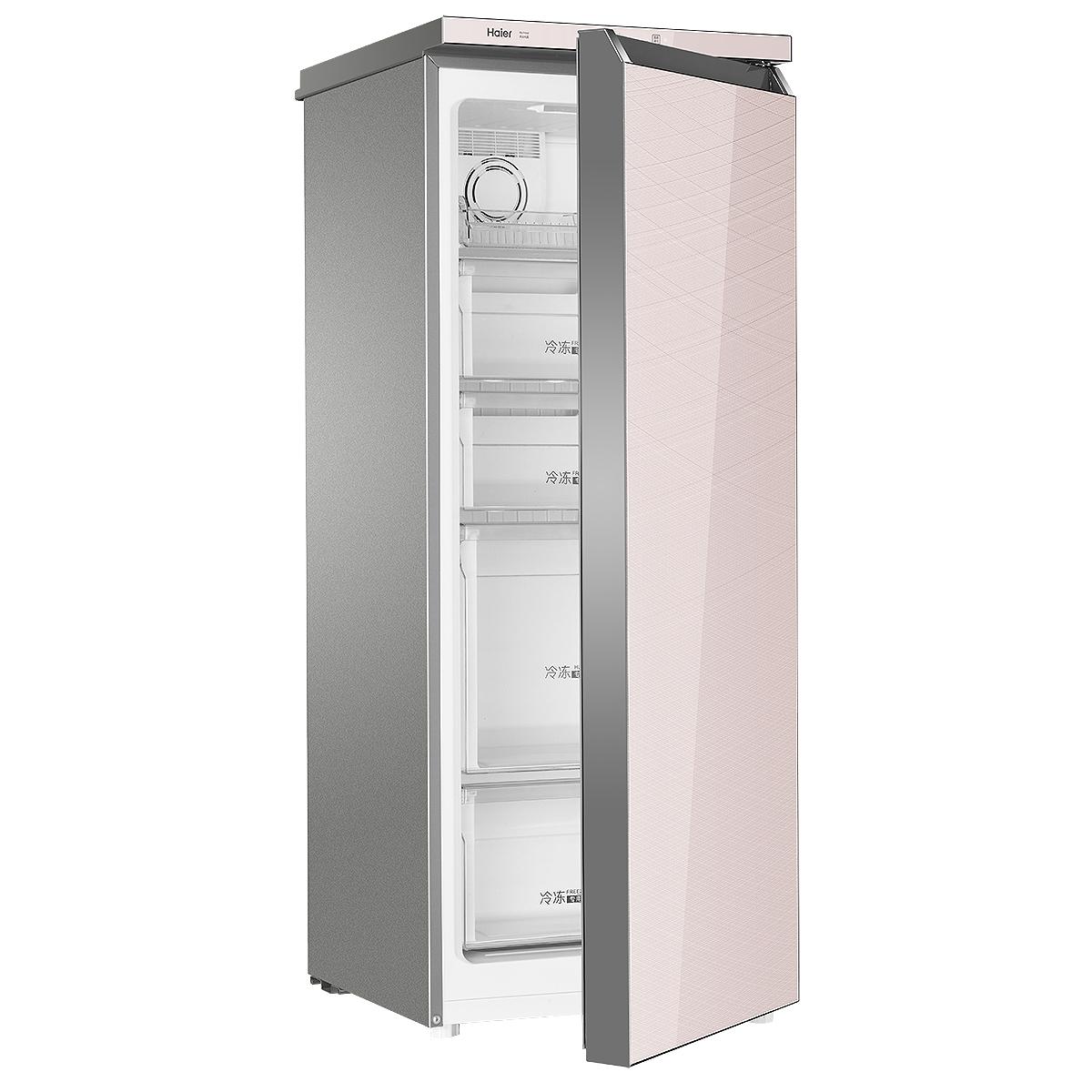 Haier/海尔 冷柜 BD-151WLG 151升 分区大抽屉 电子温控全温区 立式风冷无霜钢化玻璃面板