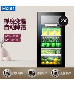 DS0120D 120升单门冰吧 透明玻璃门冰箱 家用冷藏冷冻