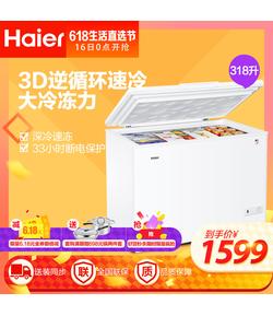 BC/BD-318HD 318升商用冰箱 卧式大冷冻柜 冷藏冷冻转换柜 变温冷柜