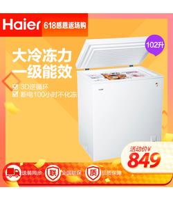 BC/BD-102HT 102升家用冰柜 冷藏冷冻转换柜 小型迷你冷柜 节能单温冰箱