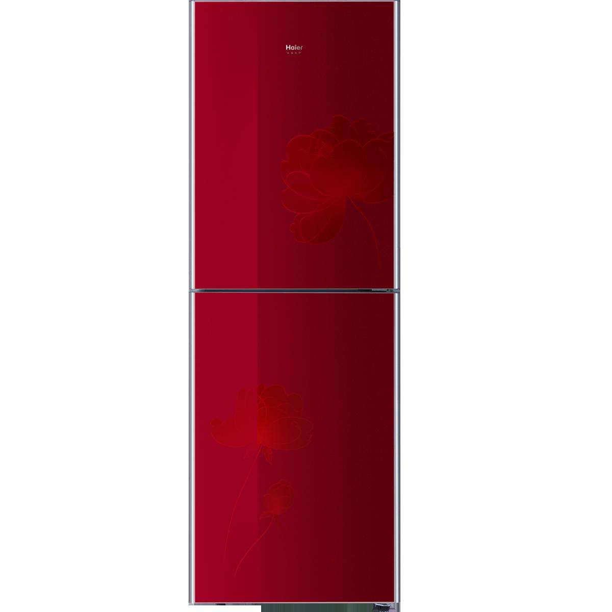 海尔冰箱 bcd-216tcx(水晶红)